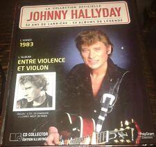 JOHNNY HALLYDAY LIVRE + CD ENTRE VIOLENCE ET VIOLON DE LA COLLECTION OFFICIELLE
