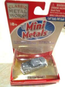 CMW Mini Metals 30145 1:87 HO 1951 Hudson Hornet Grey Opening Hood MIC