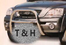 FIT KIA SORENTO 2002-2006 BULL BAR CHROME NUDGE A-BAR STAINLESS STEEL 76mm