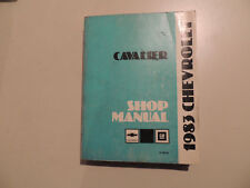 Chevrolet Cavalier 1983 Shop Workshop Service manual Werkstatthandbuch