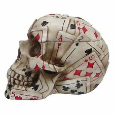 Dead Mans Hand Skull Box 12.5cm High Playing Cards Poker Gothic Stash Keepsake