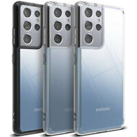 For Samsung Galaxy S21 / S21 Plus / S21 Ultra Case | Ringke [FUSION] Clear Cover