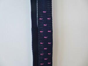 Vineyard Vines Whale Knit Tie Navy/Pink 1T2195
