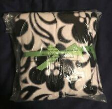 "Vera Bradley Throw Blanket Fleece Night & Day Pattern Black White Floral 50x80 """