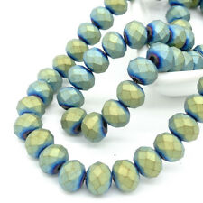 New Color Rondelle Faceted Crystal Glass Loose Spacer Scrub Beads 3mm4mm6mm8mm