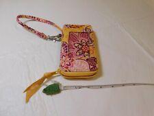 Bali Gold wristlet Vera Bradley credit card wallet cell phone holder RETIRED Yel