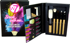W7 BRUSH WITH ME SET CONTAINING 5 FLAWLESS MAKE UP BRUSHES ONLY £7.99 FREE POST