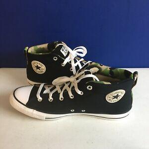 Converse CTAS Street Mid Sneakers Black/White/Camo 166977F