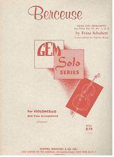 """""""BERCEUSE"""" FOR VIOLONCELLO W/PIANO ACCOMPANIMENT SHEET MUSIC-CELLO-NEW ON SALE!!"""