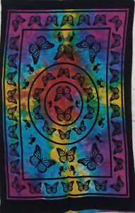 Multi Color Home Decor Wall Hanging Indian Butterfly Mandala Tapestry Poster Art