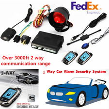 New listing 2-Way Car Alarm Security System Keyless Entry w/ 2 Lcd Long Distance Controllers