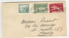 Chili 3 timbres sur lettre 1970 tampon  Chile /L427