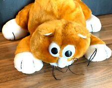 "Vintage 1986 ALLEY KATS JRL Toys 12"" Orange White Kitty Cat Plush"