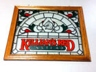 Killians red beer sign simulated stained glass sun catcher wall window display