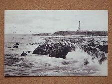 R&L Postcard: Girdleness Lighthouse, Aberdeen, Rough Sea, Valentine's