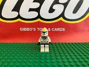 LEGO A CLONE TROOPER PILOT BLACK HEAD minifigure STAR WARS set 7958 figure