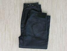 Armani Jeans Designer Black Waxed Denim Jogger Style Men's US Size 27 x 26