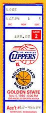 NICE! 11/4/90 LA CLIPPERS VS. GOLDEN STATE WARRIORS NBA TICKET STUB