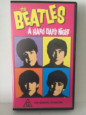 THE BEATLES ~ A HARD DAYS NIGHT ~ VHS VIDEO ~ JOHN, PAUL, GEORGE & RINGO