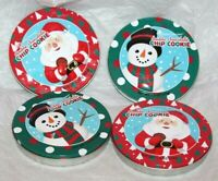 """Christmas Holiday Cookie 5"""" Round Tin Can Case Container  Lot of 4"""