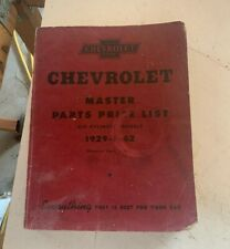 1929-1942 Chevrolet Master Parts and Accessories Catalog