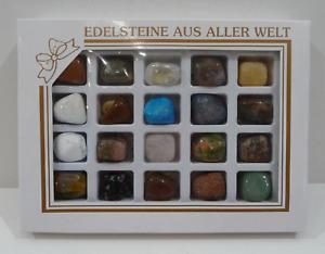 Edelsteine Trommelsteine Sammlung Set/Mix 20 Stck Geschenkset