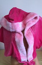 Victoria's Secret Santa Baby Fur & Velour Wrap Hoodie XS /S ~New With Tags