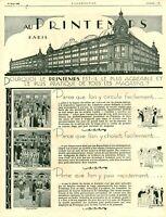 Publicité ancienne mode au printemps Paris 1925 issue de magazine