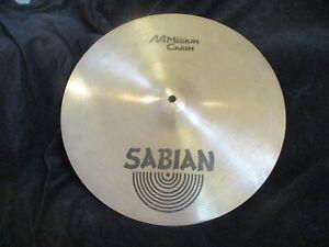 Sabian AA 16 Inch Medium Crash Cymbal, 1228 Grams, Nice Tone, Low Cost!