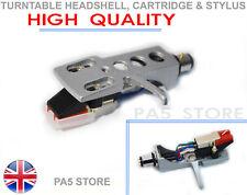 More details for silver headshell cartridge & stylus for dj turntable numark ion stanton technics
