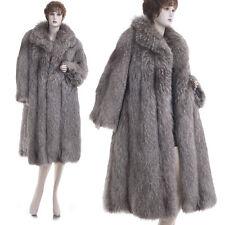ON SALE! XL! Mint! Super Glam, Super Lux Silver Indigo Fox Fur A-Line Swing Coat