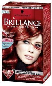 2x Schwarzkopf Brillance Couleur Des Cheveux 842 Rouge Cachemire