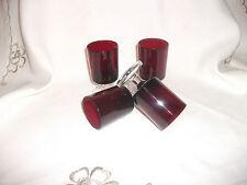 VINTAGE Francese LUMINARC Ruby Red PORTA/Sherry Bicchieri