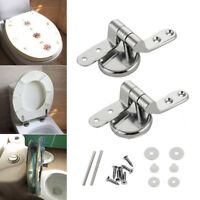 Replacement Pair of Solid Home Toilet Seat Hinges Include Fittings DIY