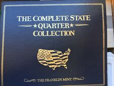USA COIN COLLECTORS MAP COMPLETE WITH 50 CIRCULATED STATE QUARTER SET 1999-2008