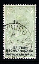 BRITISH BECHUANALAND QV 1888 1s. Surcharged One Shilling Green & Black SG 28 VFU