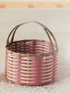 Craft tape basket  #1 Round basket  Handmade kit New From Japan