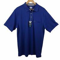 Callaway Men's Polo Shirt Size XXL Blue Golf Comfort Performance Casual NWT