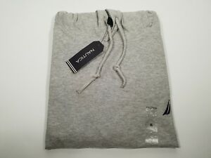 New Authentic Nautica Men's Cotton Long Sleeve Classic Fit Hooded T Shirt SALE