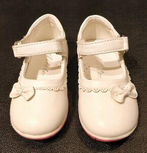 Toddler white dress shoes,size 25, US size 7,orthopedic walking, genuine leather