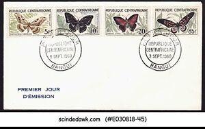 CENTRAL AFRICA - 1960 BUTTERFLIES / BUTTERFLY - FDC