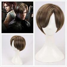 Resident Evil Leon Scott Kennedy Braun Brown Perücke Wig Cosplay Costume Kostüme