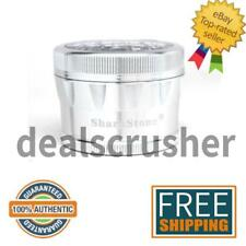 """Sharpstone Grinder V2 - 2.5"""" LARGE - 4-Piece - Clear Top - SILVER +Free Shipping"""