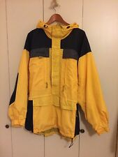 Columbia Half Zip Windbreaker Hooded Nylon Backpacking Hiking Jacket Mens L