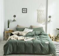 3D Green Khaki ZHUA4232 Bed Pillowcases Quilt Duvet Cover Set Queen King Zoe
