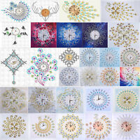 DIY Special Diamond Painting White Flower Wall Clock Embroidery Cross Stitch Art
