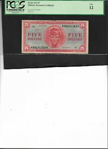 Military Payment Certificate Series 611 $5 Fine 12