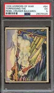 1938 GUM INC. HORRORS OF WAR R69 #94 TORPEDOING THE REBEL PSA 5 *DS10755