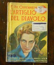 Oppenheim - L'ARTIGLIO DEL DIAVOLO - I romanzi gialli Mediolanum 1933