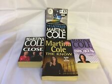 Martina Cole Novels x4- Broken, The Ladykiller, Close, The Know - GOOD condition